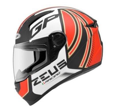 ZEUS 瑞獅  zs811 AL2 全罩安全帽  消光黑紅