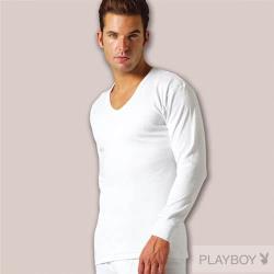 超值6件【PLAY BOY】時尚型男台灣製100%純棉毛U領長袖衫(M-XL)pb2117b