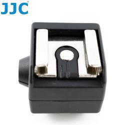JJC標準熱靴轉換座熱靴轉接器JSC-2(具有PC同步端子)ISO通用熱靴腳座 適Canon佳能Nikon尼康Pentax Fujfilm富士