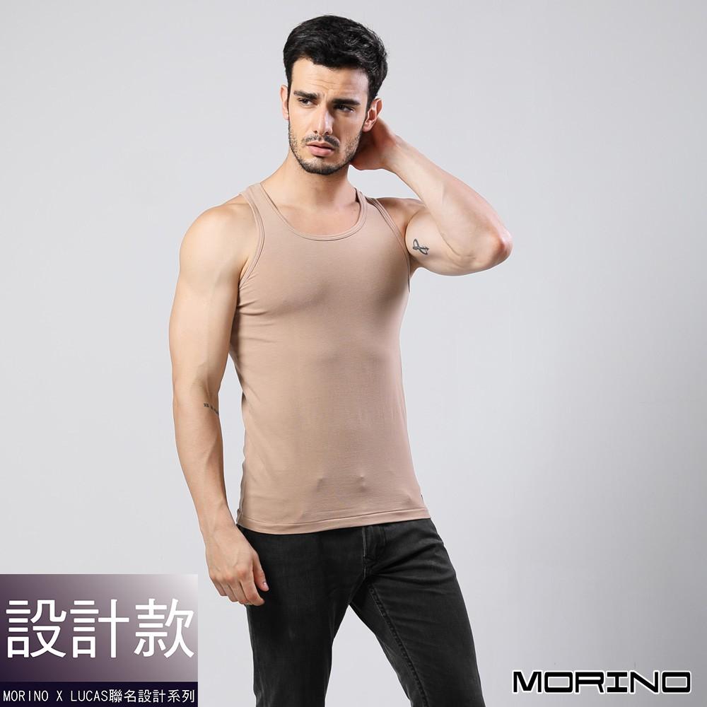 MORINOxLUCAS設計師聯名-經典素色運動背心--棕 MO5110