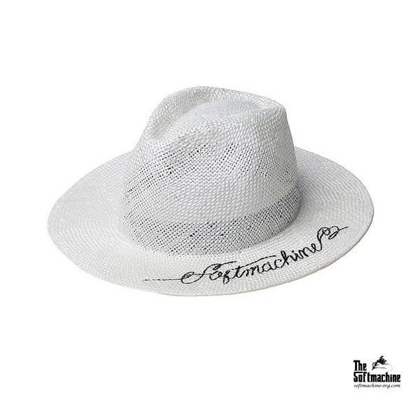 GOODFORIT / 日本品牌Softmachine LUCIANO Hat書寫Logo皮革止滑帶草編帽款