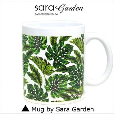客製化 手作 馬克杯 陶瓷杯 熱帶 樹葉 叢林 Sara Garden