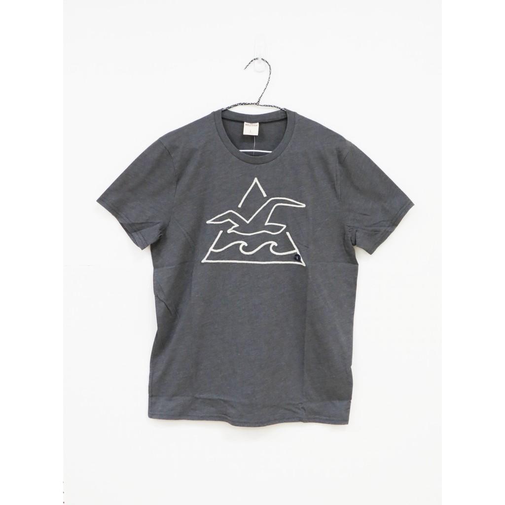 【Hollister】男款短袖純棉T恤 - 棕灰/M/L