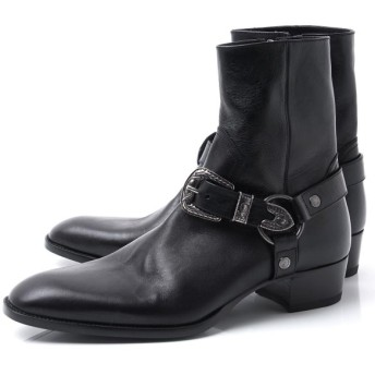 サンローランパリ SAINT LAURENT PARIS ブーツ WYATT HARNESS BOOTS ワイアット ハーネス ブーツ ブラック メンズ 553604-00e00-1000