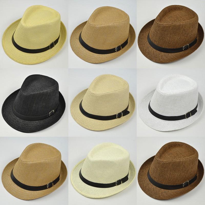 日本東京 原宿高品質皮帶扣環邊 棉麻混紡 爵士帽 5色可選 速乾透氣遮陽帽