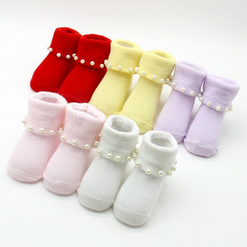 兒童兒襪針織蕾絲襪 純棉可愛珍珠寶寶襪【IU貝嬰屋】