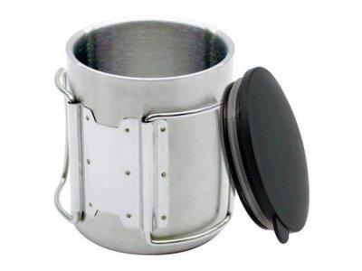 【露營趣】犀牛 RHINO KS-1 不銹鋼 斷熱杯 咖啡杯 隔熱杯 不燙手 兒童杯 真空 保溫杯