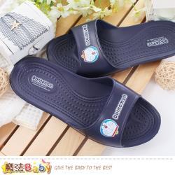 魔法Baby 童鞋 哆啦A夢正版軟Q室內外兩用拖鞋~sk0472