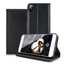 Xmart for iPhone XS Max 6.5吋 精美好手感羊紋隱扣皮套