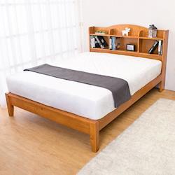 Boden-克查5尺實木書架雙人床架