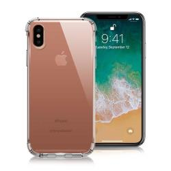 Xmart for iPhone X 清透高質感TPU+PC手機保護殼 - 白
