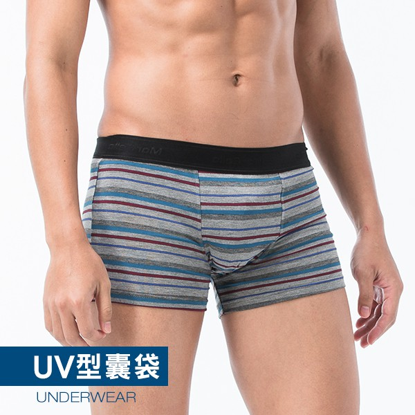 瑪榭 輕柔織帶貼身平口褲-條紋 隨機出色 MM-51543