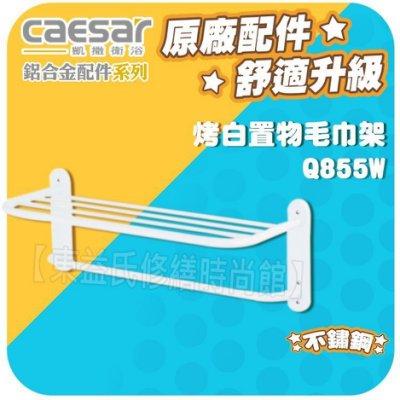 【東益氏】CAESAR凱撒精品衛浴Q855W、Q855B、Q859時尚置物架 置衣架 衣物架 毛巾桿