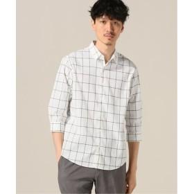 417 EDIFICE COOLMAX / クールマックス サッカーチェック7/Sシャツ ブラック S