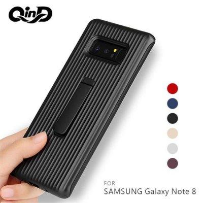 現貨出清!強尼拍賣~QinD SAMSUNG Galaxy Note 8 獵鷹支架殼 PC硬殼 抗震防摔