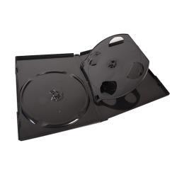 EXCH 四片DVD精裝優質軟盒/黑色 1箱(100PCS)    DVD-04-100