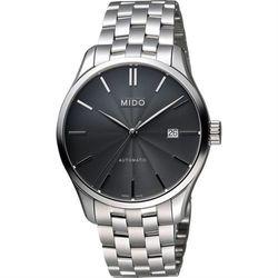MIDO Belluna II Gent 經典機械腕錶-黑x銀/40mm M0244071106100