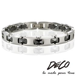 DECO X MASSA-G【炫黑晶簡】頂級鎢鋼陶瓷手環
