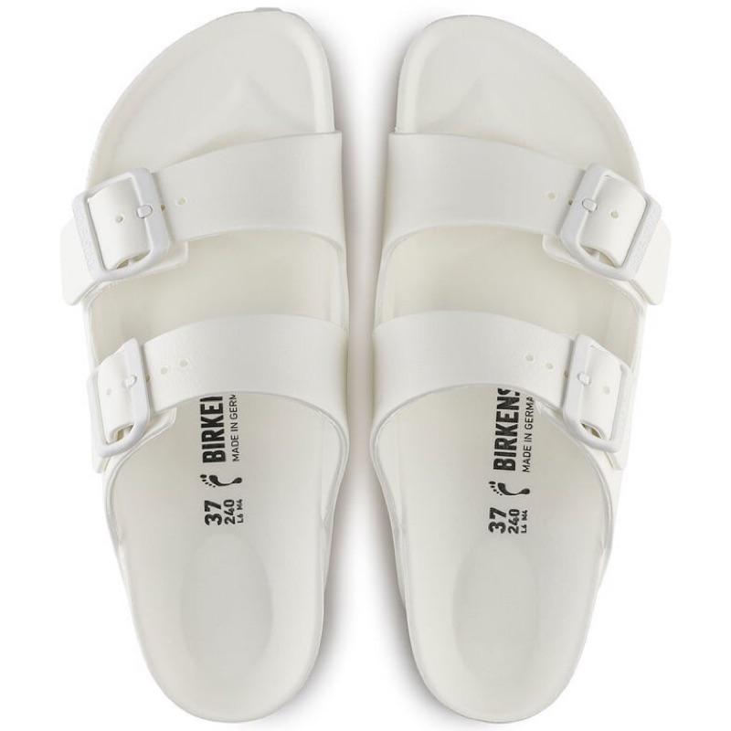 德國 BIRKENSTOCK 勃肯 ㄧ體成型 EVa 防水拖鞋 二條- 白色