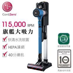 ◎智慧變頻馬達10年保固 ◎快清水洗過濾裝置 (氣旋 l 金屬濾網 l 前置濾網 l HEPA濾網 ) ◎伸縮吸塵管可調節長度 l 三用充電座 l 多功能吸頭組商品名稱:LGCordZero™A9+快