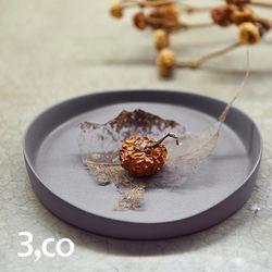 3,co水波系列圓形托盤(1號) 灰