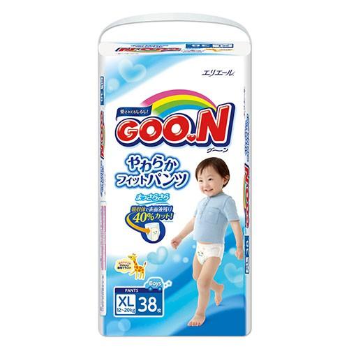 箱購價 GOO.N 日本大王 大王褲型紙尿褲 日本境內版 男XL 38片x3包/箱