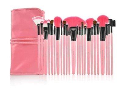 $$麗菁$$的賣場 粉紅色MAKE-UP FOR YOU 24支專業彩妝刷具組 化妝刷具組 粉紅/黑/ 原木色
