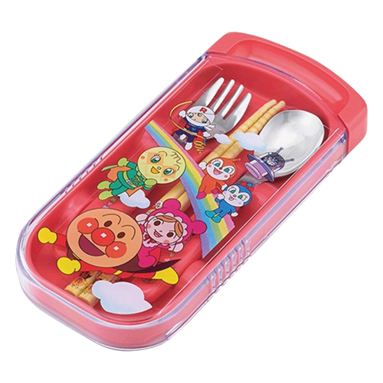 麵包超人 - AN麵包超人三件餐具組-红