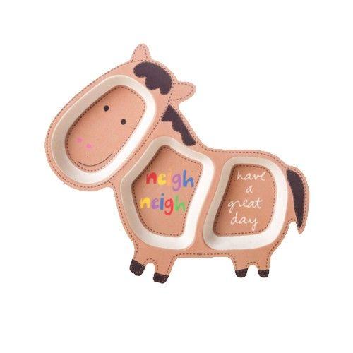 coeco - 竹纖維動物造型兒童餐盤-小馬