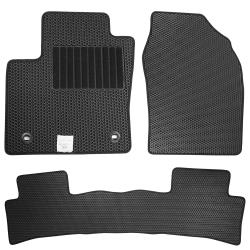 CARBUFF 汽車腳踏墊 FOCUS (2013~2019.01) 三代 適用-蜂巢式防水車墊