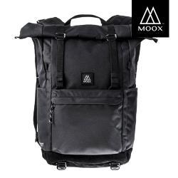 【穆克斯MOOX】A3BB CONVERT多功能防潑水探險後背包-雙層筆電包(深夜黑)