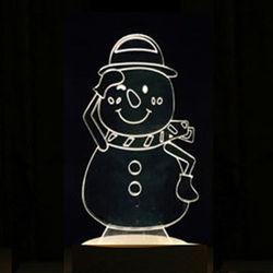 北歐3D立體 USB LED創意小夜燈-雪人
