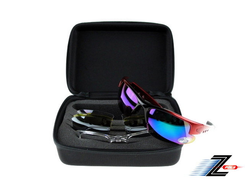 Z-POLS 台灣製造四片組重裝 抗UV400可換鏡可配度設計運動太陽眼鏡 多色可選 送運動帶