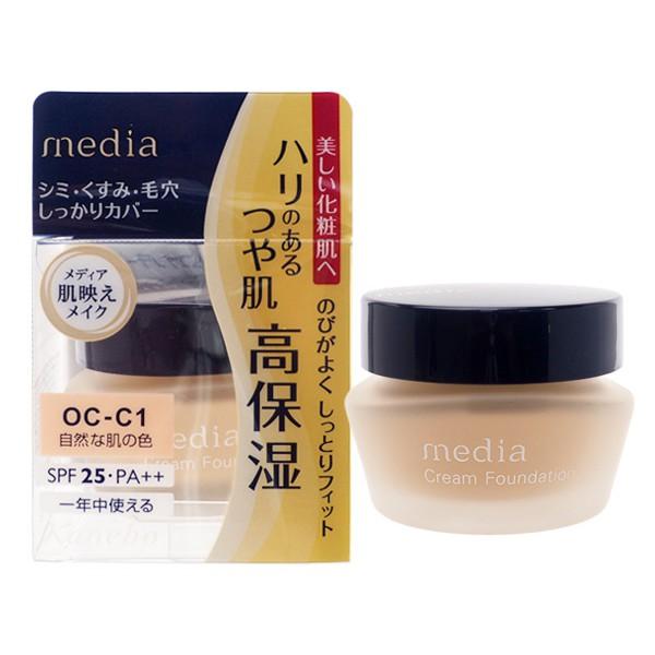 日本 media 媚點 極上粉嫩保濕粉底霜(25g)【小三美日】D147313