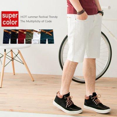 柒零年代【N8570J】韓版夏日型男skinny合身窄版水洗牛仔短褲(JK3034)Simple