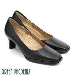 GREEN PHOENIX 素面方頭高跟鞋U23-20772