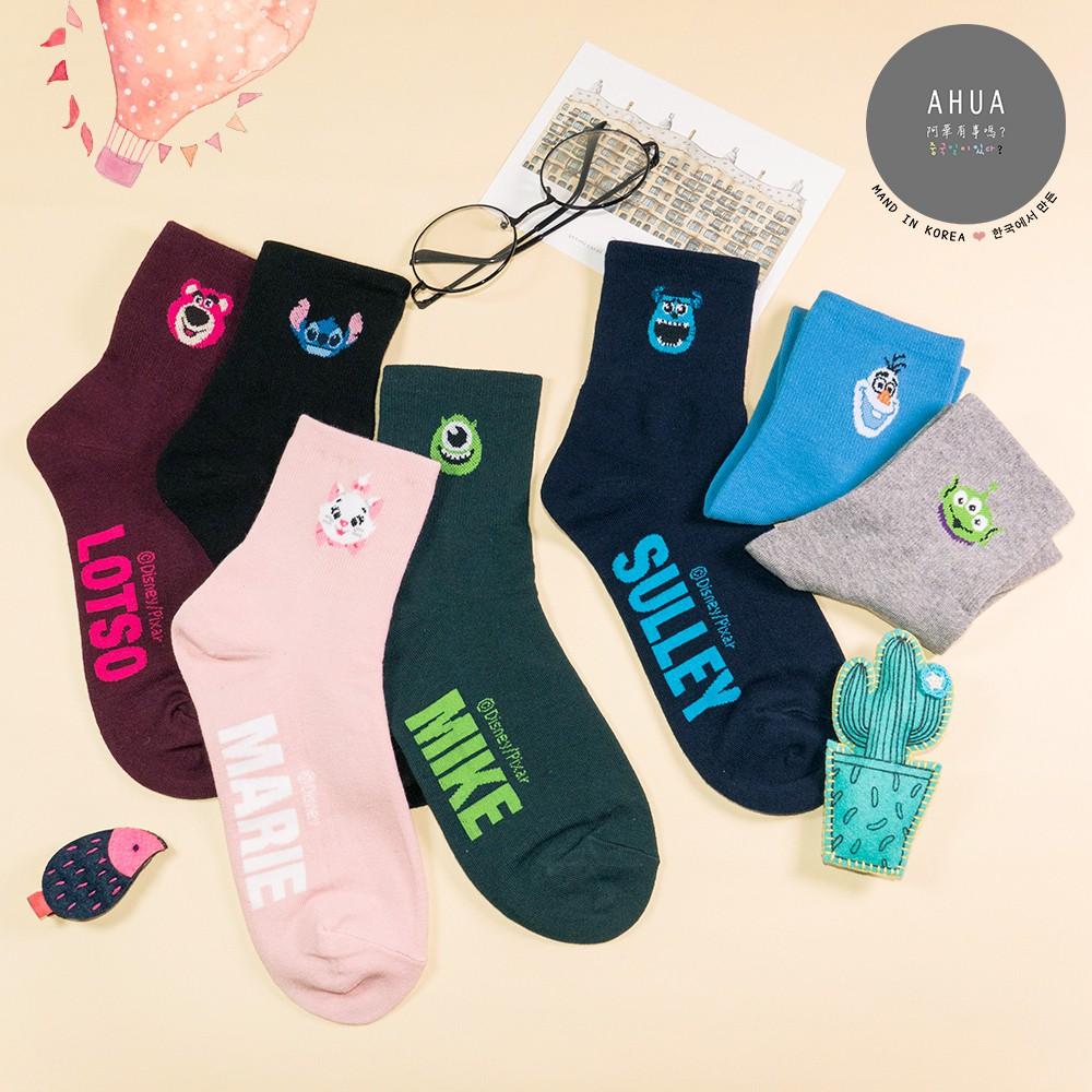 AHUA阿華有事嗎 韓國襪子 純色小頭英文字母中筒襪 K0212 正韓貨 韓妞必備長襪 姊妹襪 免運