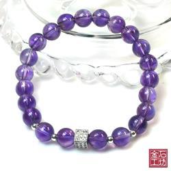 【金石工坊】貴人好運幸運石紫水晶手鍊