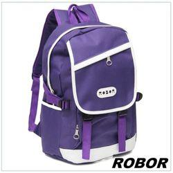韓系型男 ROBOR潮流百搭休閒簡約後背包(紫色)