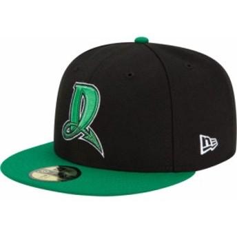 ニューエラ New Era メンズ キャップ 帽子 Dayton Dragons 59Fifty Black/Green Authentic Hat