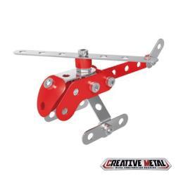 ZEYE-益智金屬積木-紅色直升機(6歲)