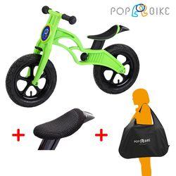 【BabyTiger虎兒寶】POPBIKE 兒童平衡滑步車 - AIR充氣胎 + 椅墊套 + 攜車袋