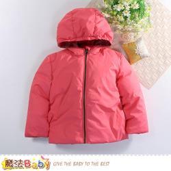 魔法Baby 兒童外套 加厚鋪棉極暖禦寒連帽外套~k60508