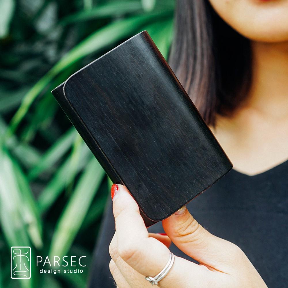 PARSEC|樹革正黑檀名片夾