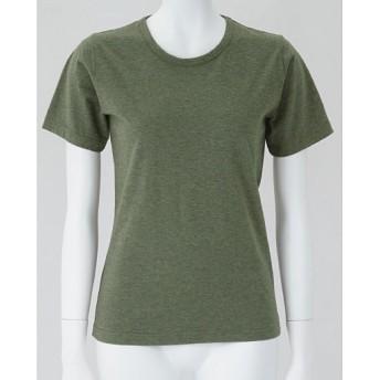 45%OFF【レディース】 半袖Tシャツ(型崩れしにくい 綿100%SZTシャツ) - セシール ■カラー:カーキA(杢) ■サイズ:M
