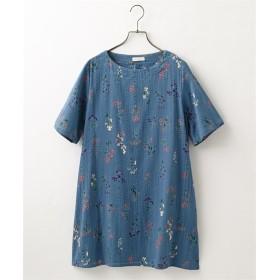 花柄プリントチュニックブラウス (ブラウス),Blouses, Shirts