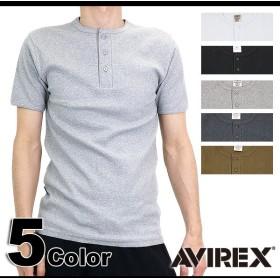 【日本正規品】AVIREX アヴィレックス メンズ 半袖 ヘンリーネック Tシャツ(6143504 SS14)