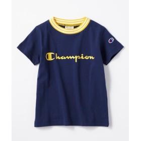 Champion フロントロゴリンガーTシャツ キッズ ブルー