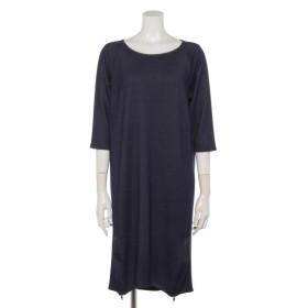 70%OFF Weaver (ウィーバー) 裾ファスナー付カットソーワンピース ネイビー