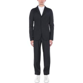 《セール開催中》EMPORIO ARMANI メンズ スーツ ブラック 46 バージンウール 84% / シルク(マルベリーシルク) 16%